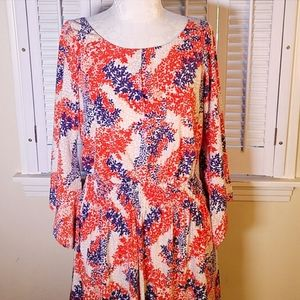 Jessica Simpson ■ (6) Floral Bell Sleeve Dress